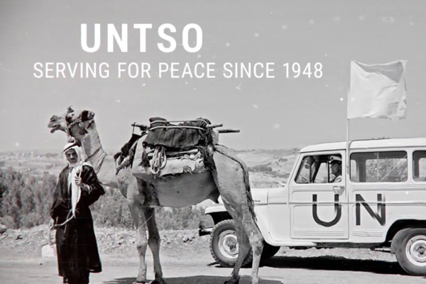 UNTSO 70 year motion graphics